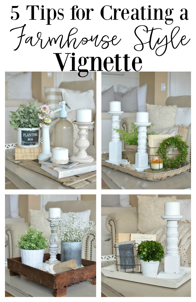 5 quick tips for a farmhouse style vignette - Home decorating basics style ...