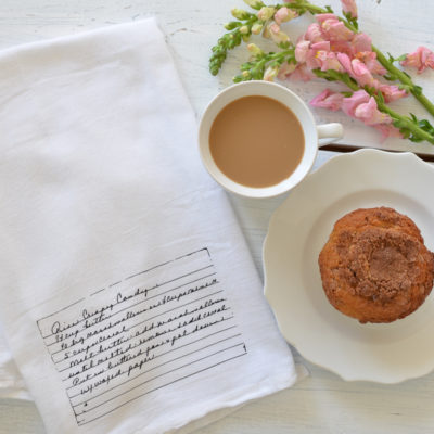 Friday Favorites: A Flour Sack Tea Towel & Thoughtful Mother's Day Gift Ideas