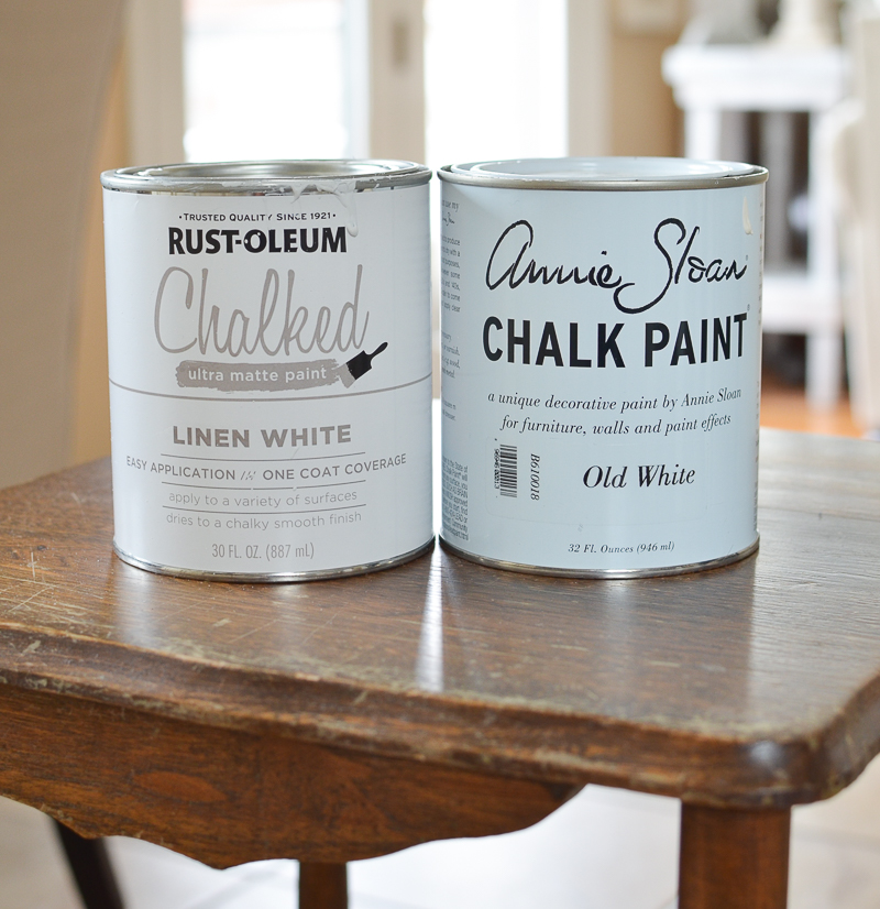 Annie Sloan Chalk Paint vs RustOleum Chalked Paint