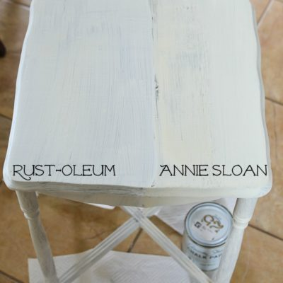 Annie Sloan Chalk Paint versus Rust-Oleum Chalked Paint. A Side by Side Comparison and Review