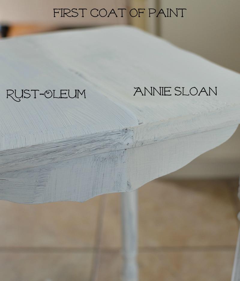 Chalk Paint Comparision Annie Sloan Vs Rustoleum 5