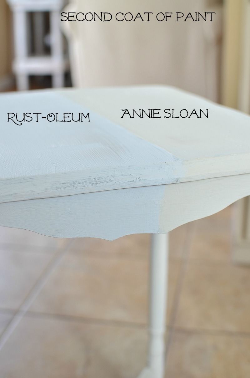 Annie Sloan Chalk Paint vs Rust-Oleum Chalked Paint. A Side by Side Comparison and