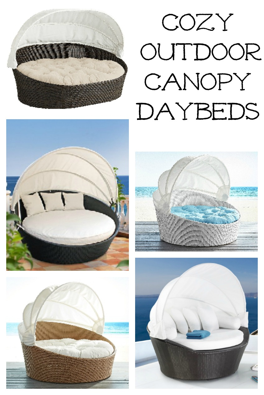 Cozy outdoor canopy daybeds