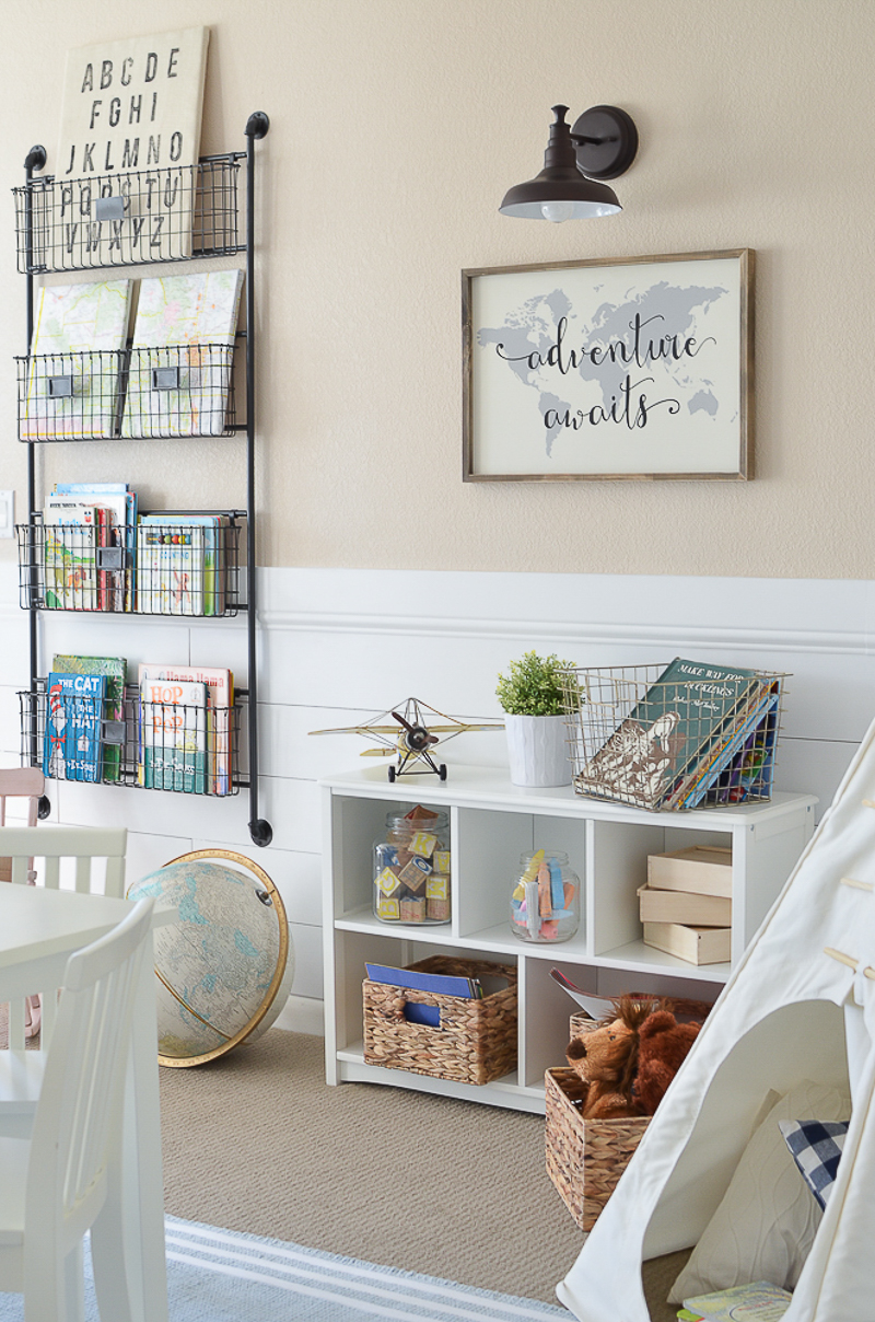 Modern farmhouse playroom for Farmhouse bedroom decor