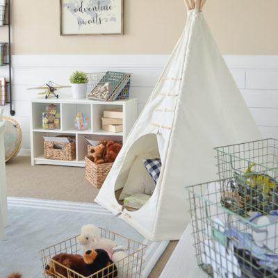 Modern Farmhouse Playroom Makeover