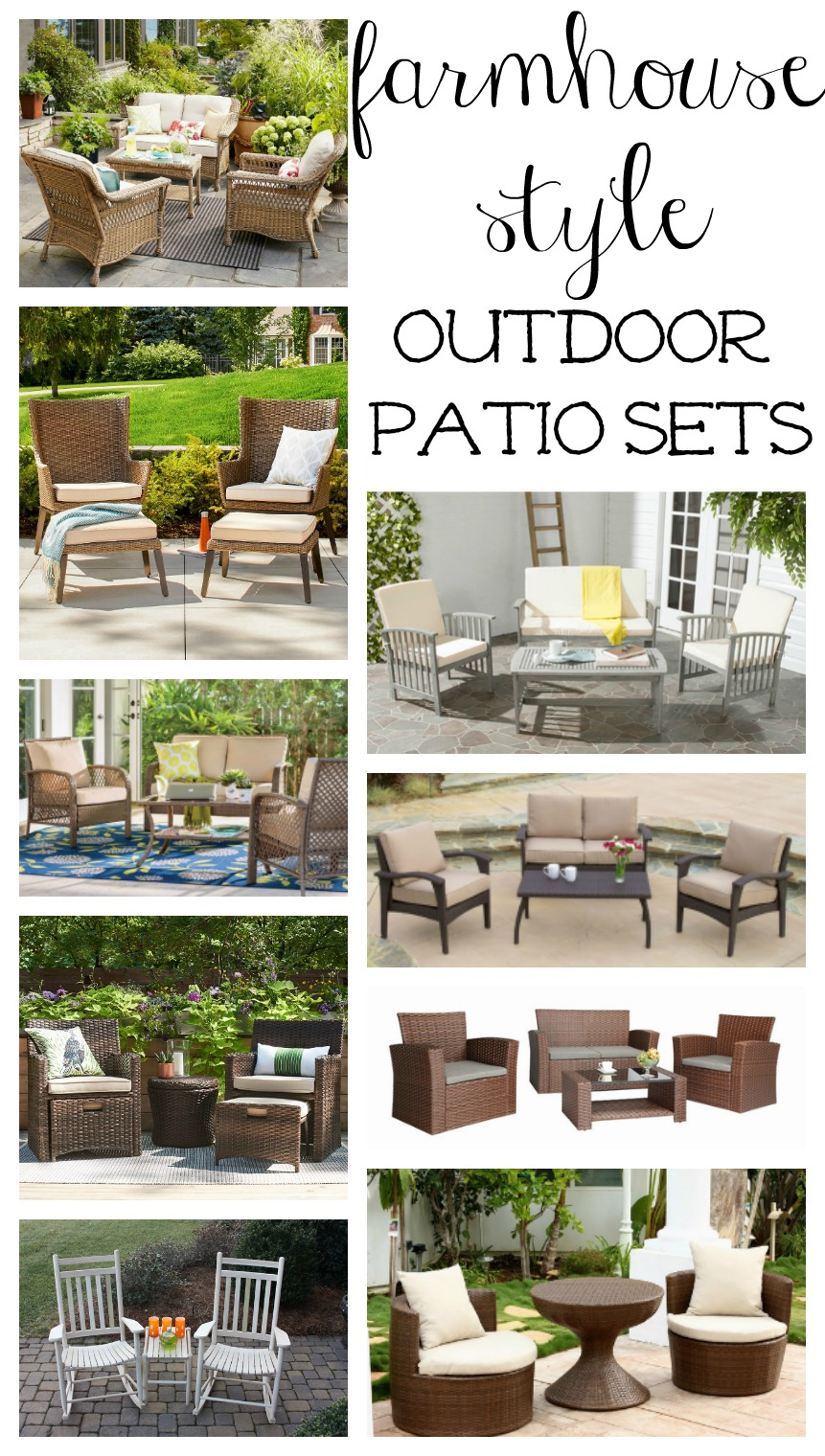 Farmhouse Style Outdoor Patio Sets