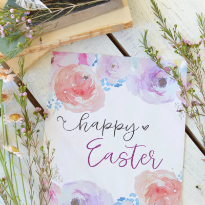 I Made Easter Printables!
