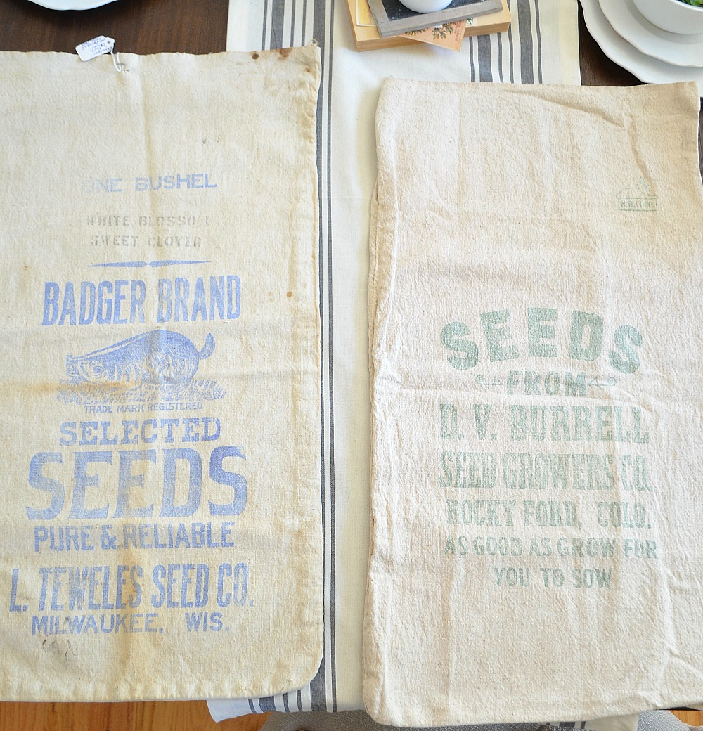 Friday Favorites: Vintage Grain Sacks