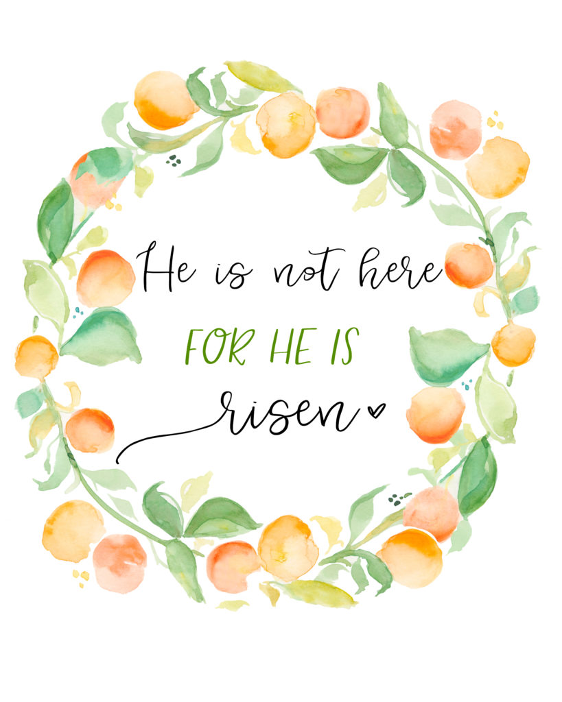 He is Risen Easter Printable. Free Easter Printable. Easter decor.