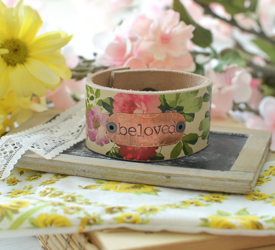 A Vintage Inspired Floral Leather Cuff for Mother's Day