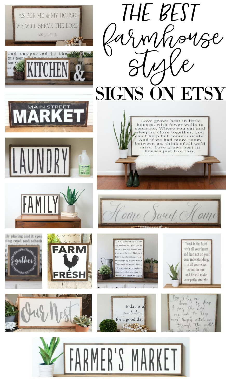 The best farmhouse style signs on etsy - Inspired diy ideas small kitchen ...