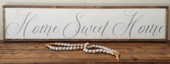 Home Sweet Home sign. The Best Farmhouse Style Signs on Etsy