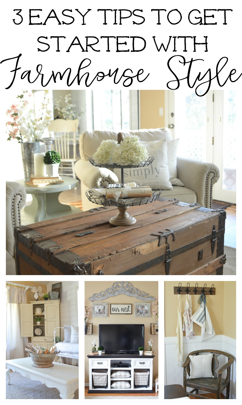 3 Easy Tips to Get Started with Farmhouse Style