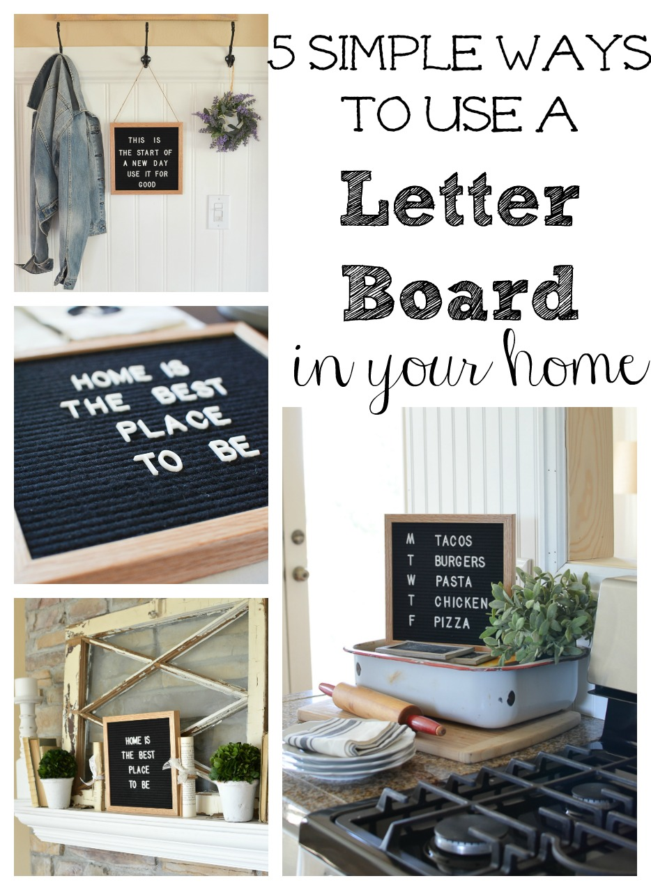 5 Simple Ways to Use a Letter Board in Your Home