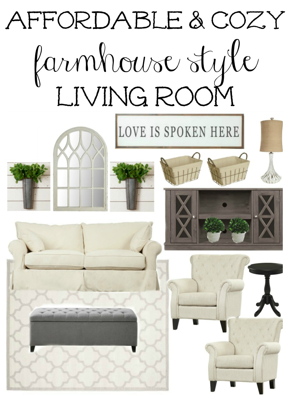 Affordable Farmhouse Style Living Room