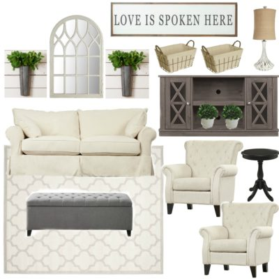 Farmhouse Rehab: Affordable Living Room Makeover
