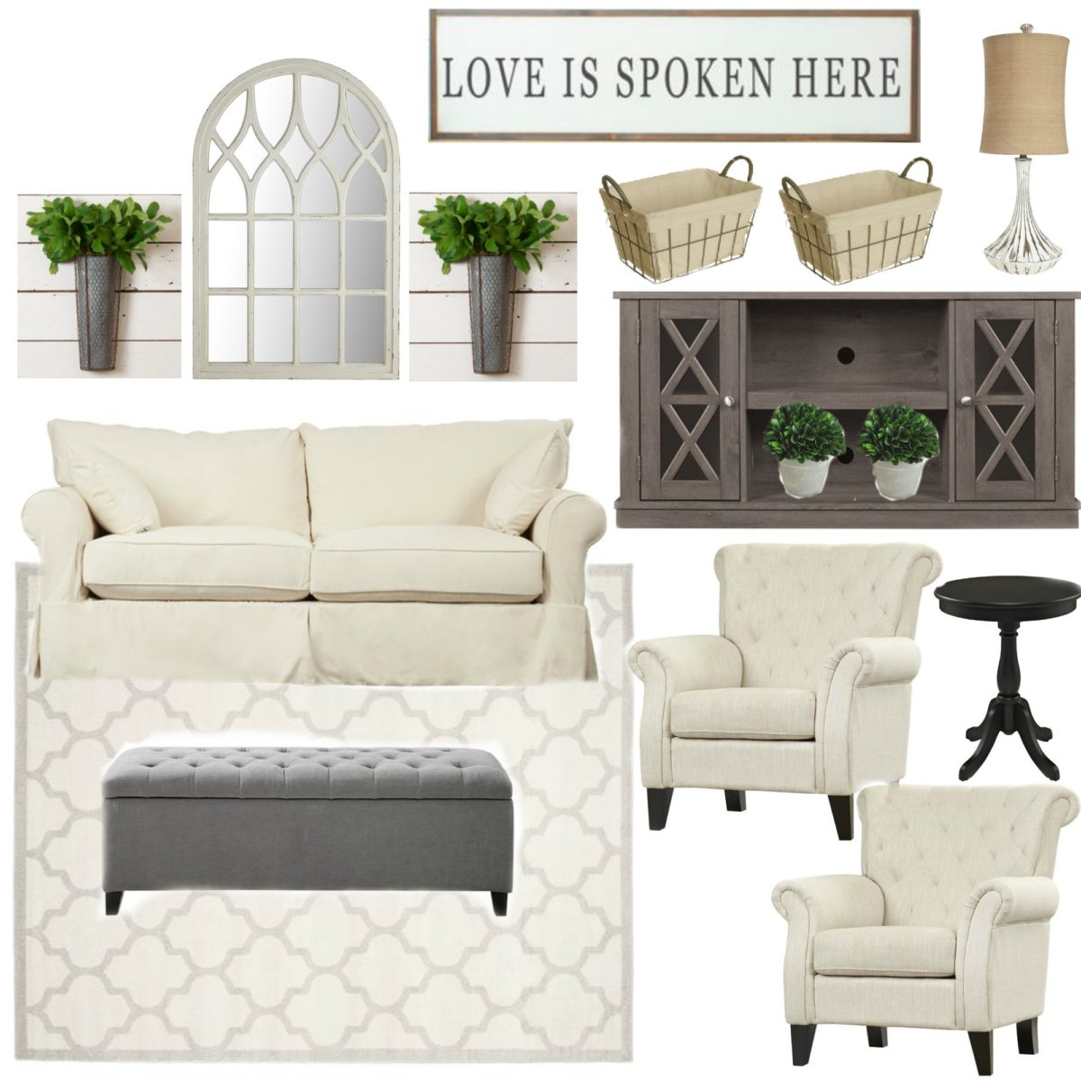 Living Room Low Furniture: Farmhouse Rehab: Affordable Living Room Makeover