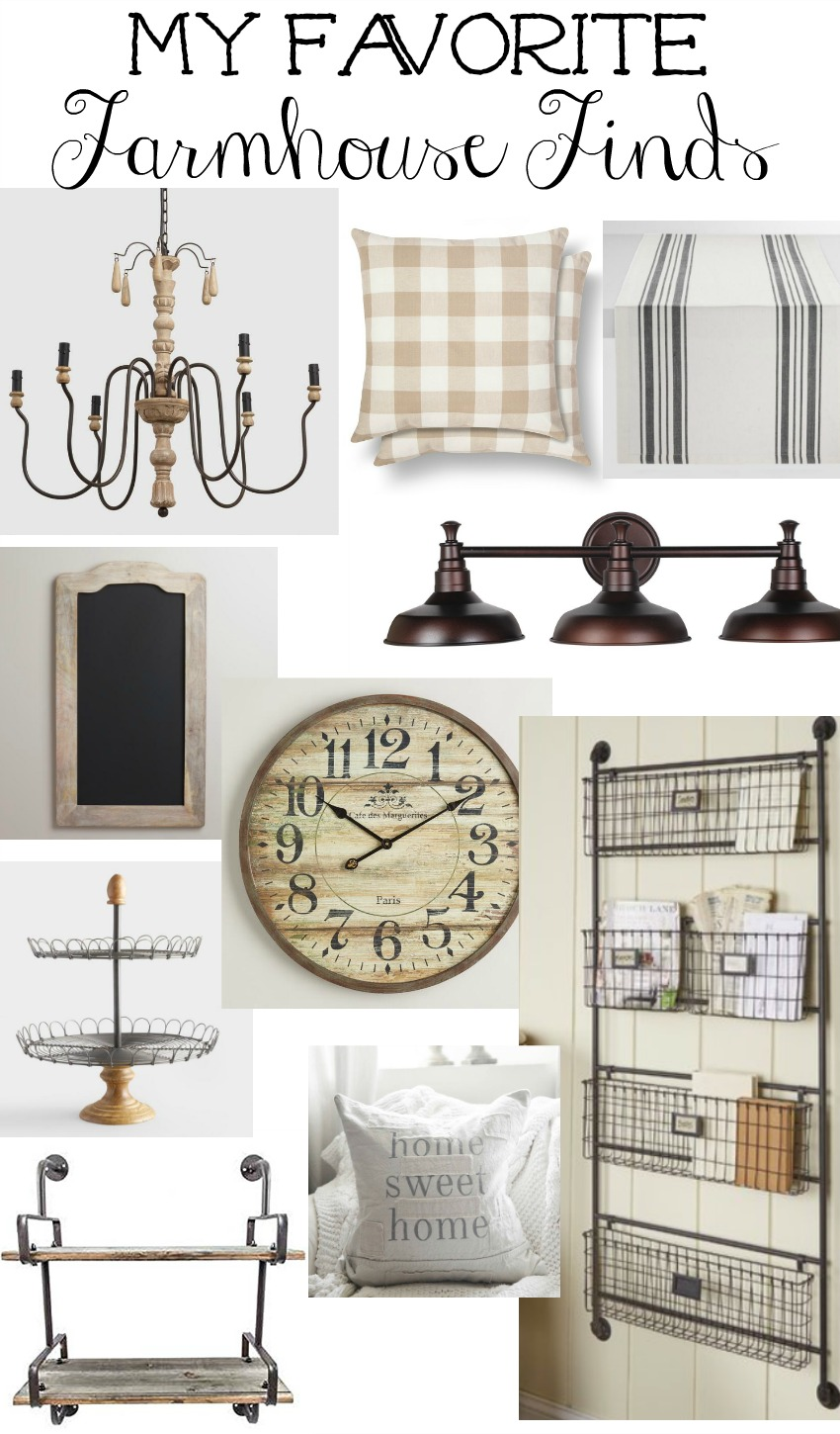 My Favorite Farmhouse Finds. Affordable farmhouse style decor!