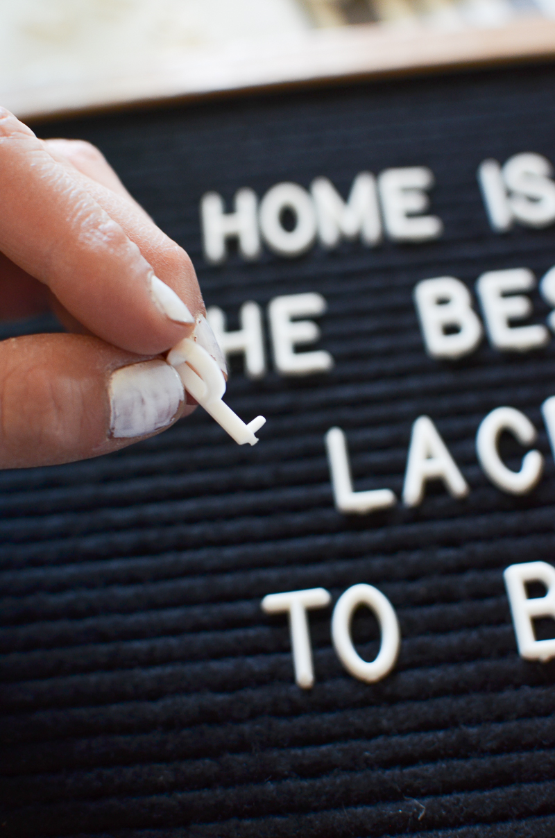 5 Ways to use a letter board in your home