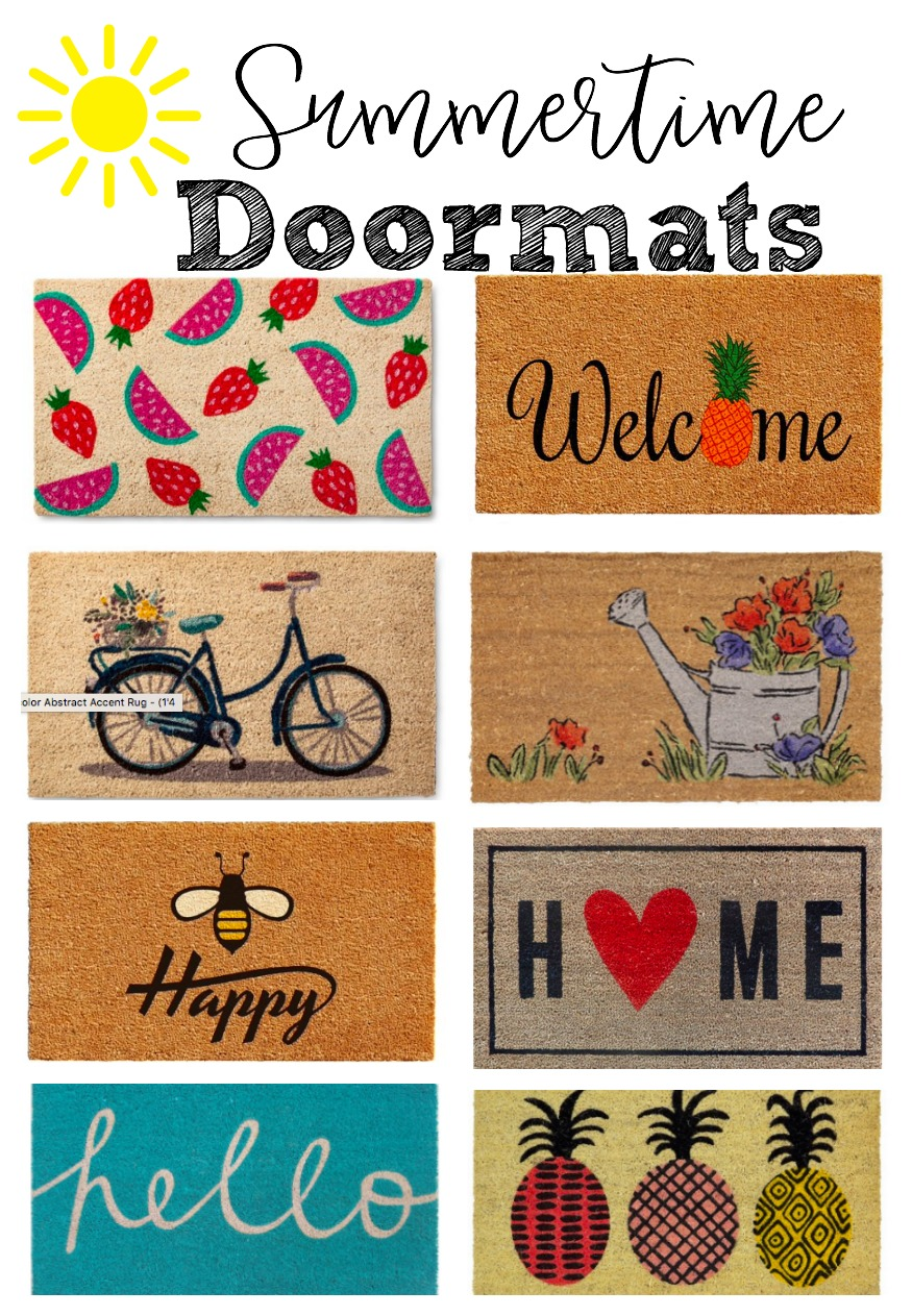Fun & Festive Summertime Doormats