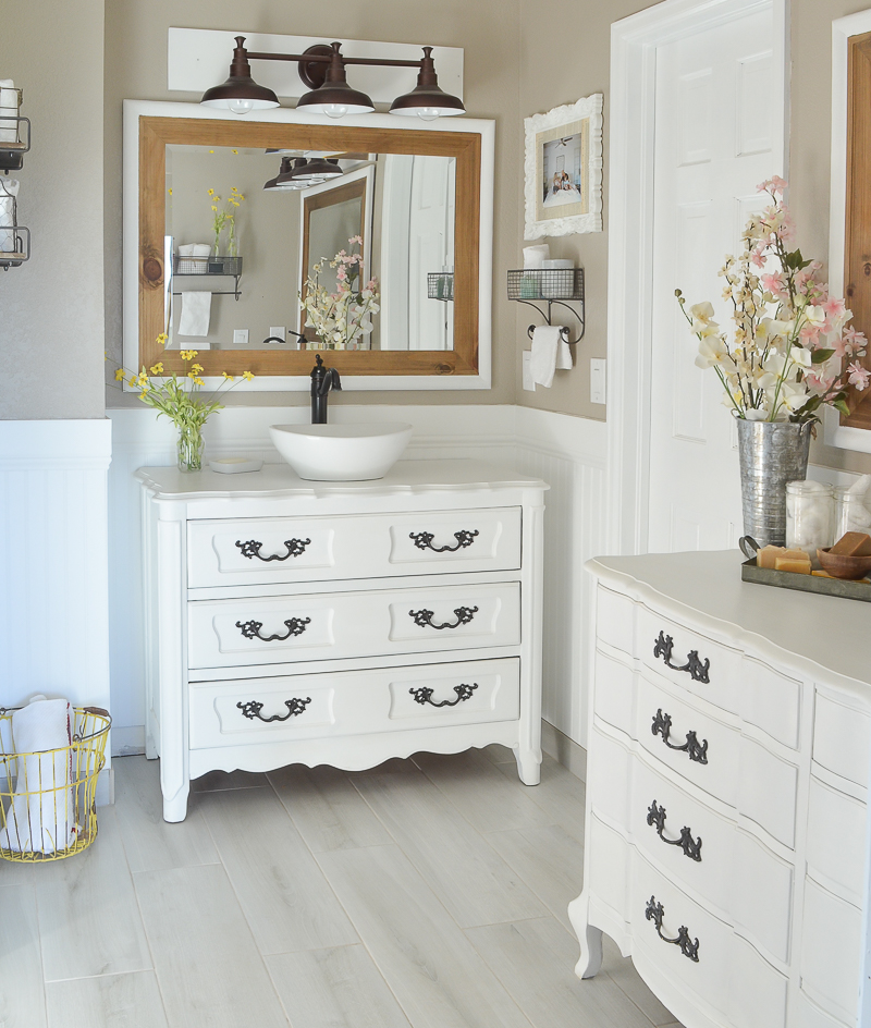 Bathroom Vanities Farmhouse new and improved farmhouse bathroom vanities - little vintage nest