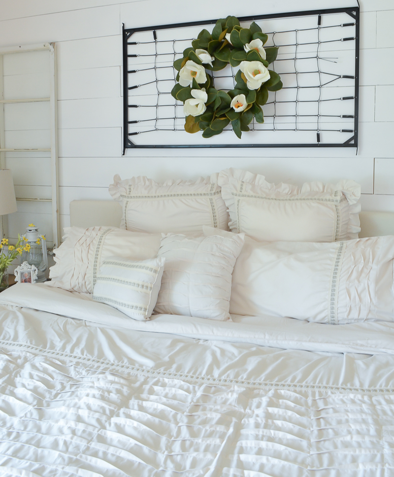 A Vintage Crib Spring Makeover & Bedroom Refresh