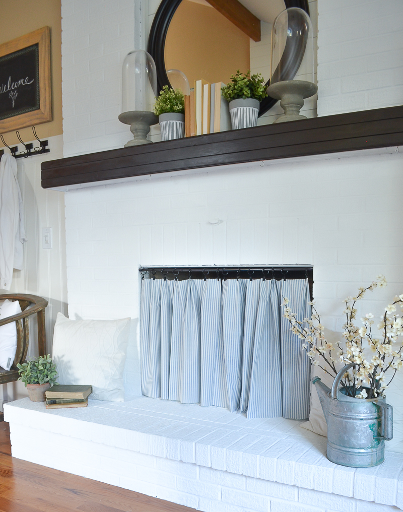 Easy diy fireplace cover - Ideas to cover fireplace opening ...