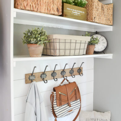 Budget Friendly Mudroom Makeover