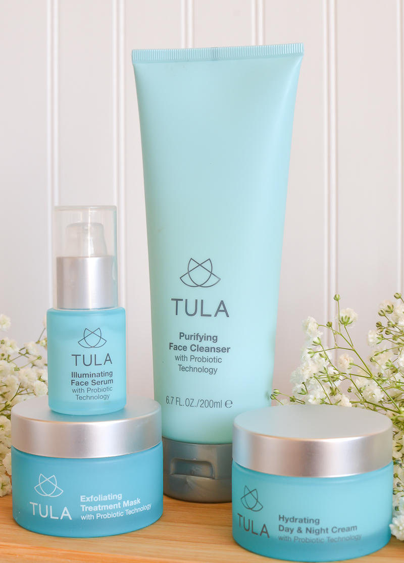 My current skincare routine with Tula products.