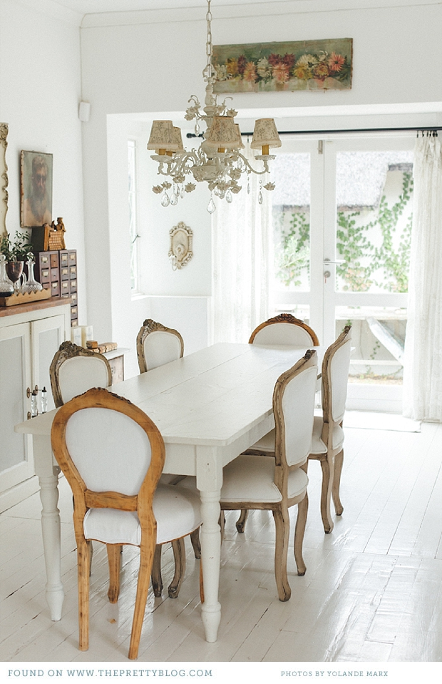 Stunning French farmhouse dining room.