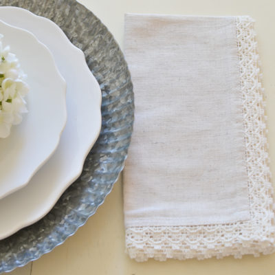 Table Linens, New Chargers + Real Talk