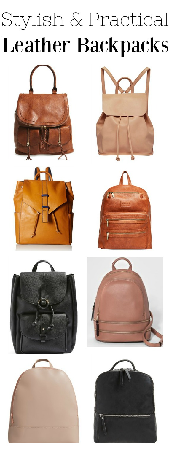 Stylish and practical leather backpacks