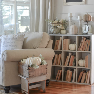 Vintage Cubby, Old Books & Fall Decor