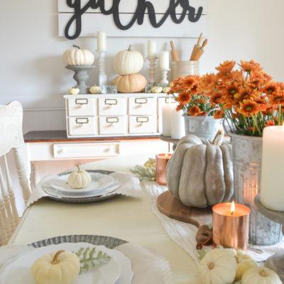 Easy Farmhouse Fall Table
