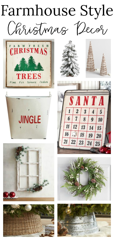 Cozy Farmhouse Style Christmas Decor Shopping Guide