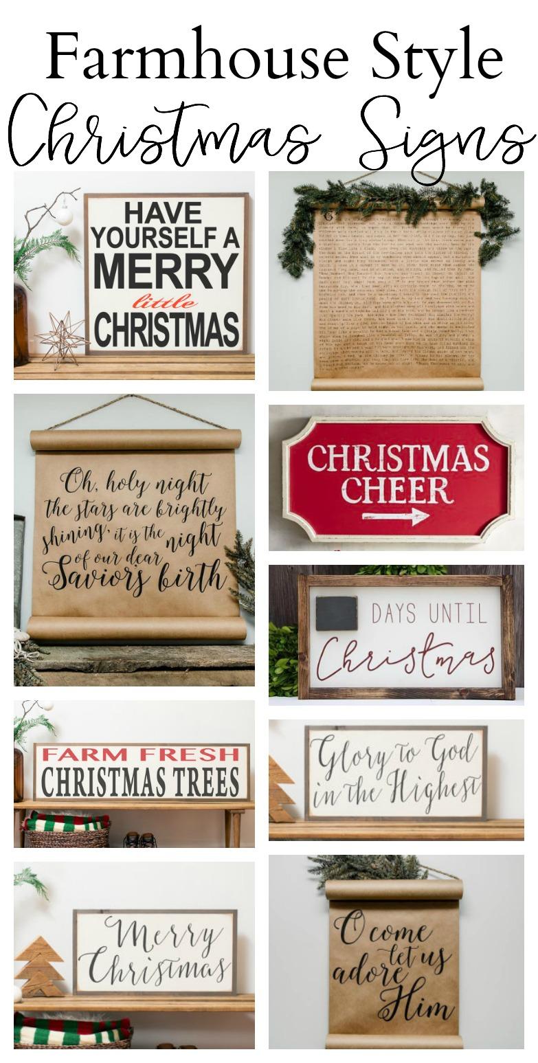 Farmhouse Style Christmas Signs