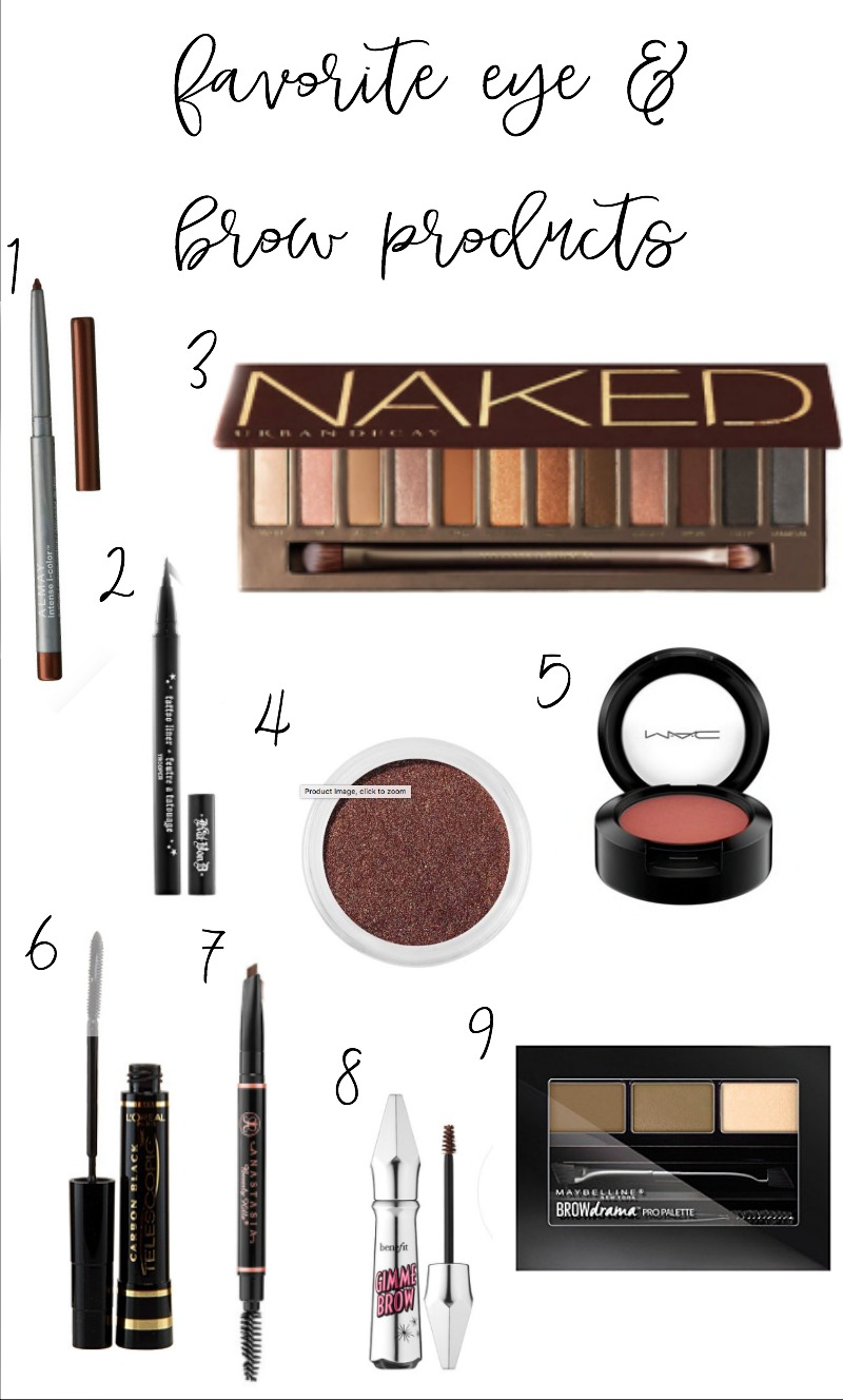 Favorite eye and brow products for a smokey brown eye