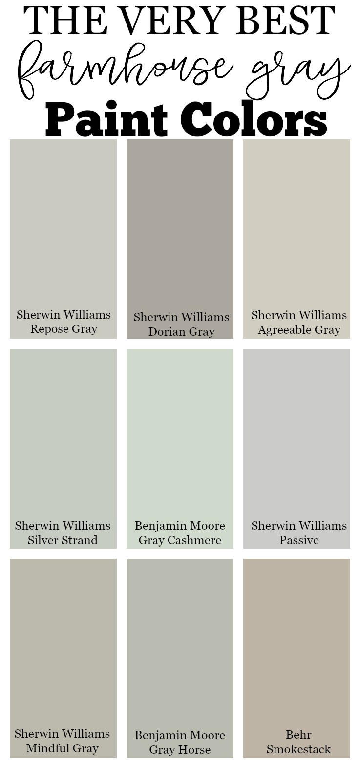 Neutral Interior Paint Palette