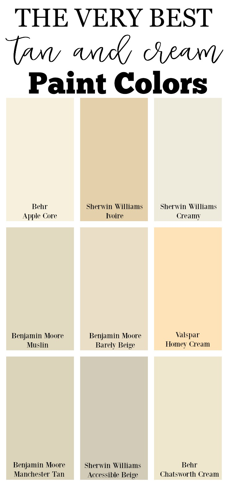 The best neutral paint colors for your home for Neutral cream paint color