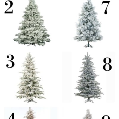 10 Affordable Flocked Christmas Trees