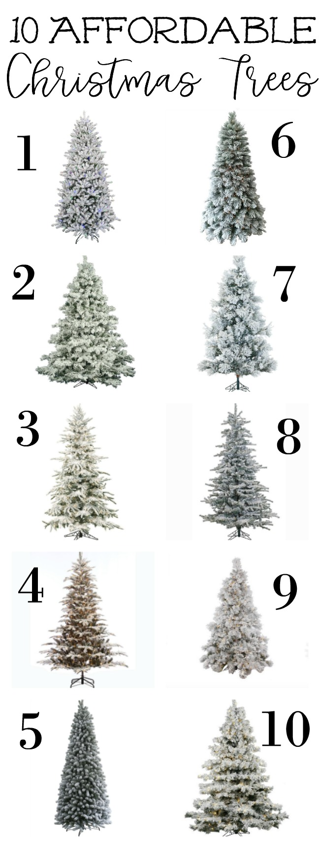 Affordable (and pretty!) Christmas Trees