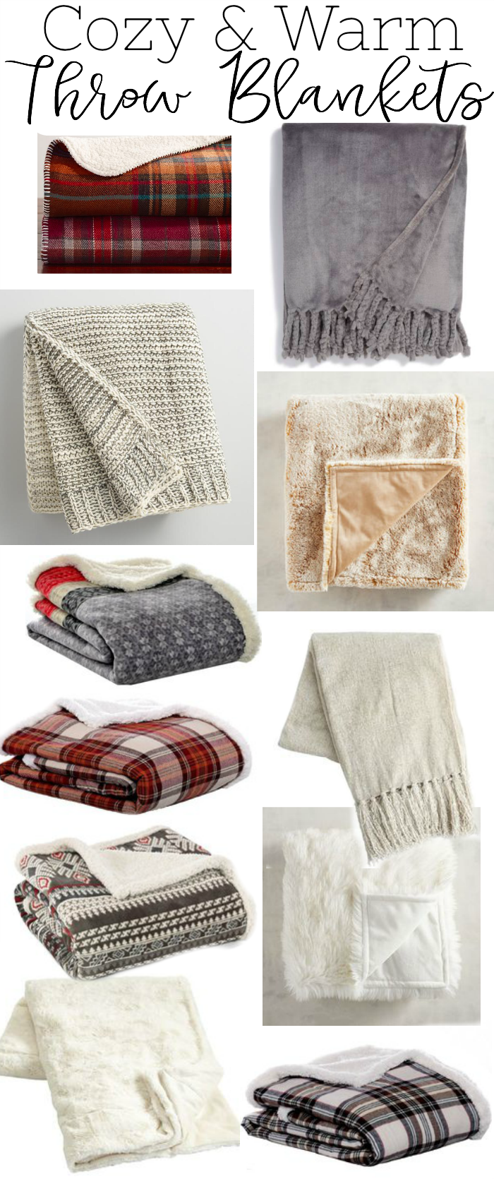 Cozy and warm throw blankets for winter