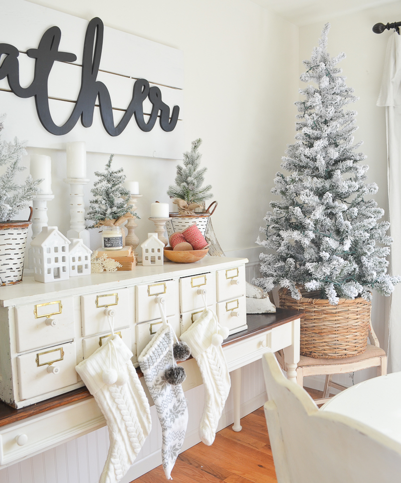 Home Decoration: Farmhouse Christmas Decor + Vintage Card Catalog