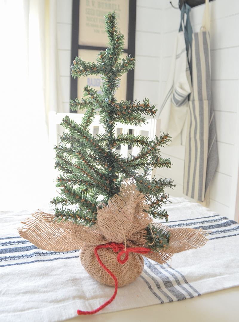DIY Flocked Mini Christmas Trees