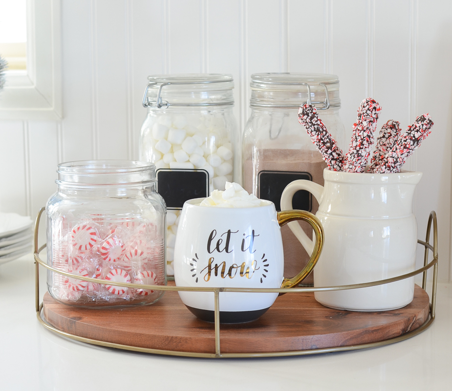 Simple hot cocoa bar perfect for winter!