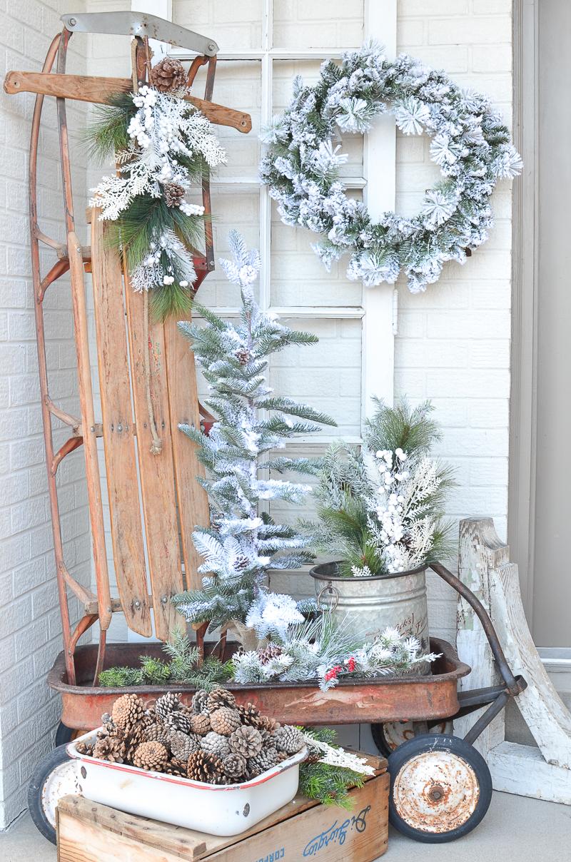 Simple Farmhouse Winter Porch