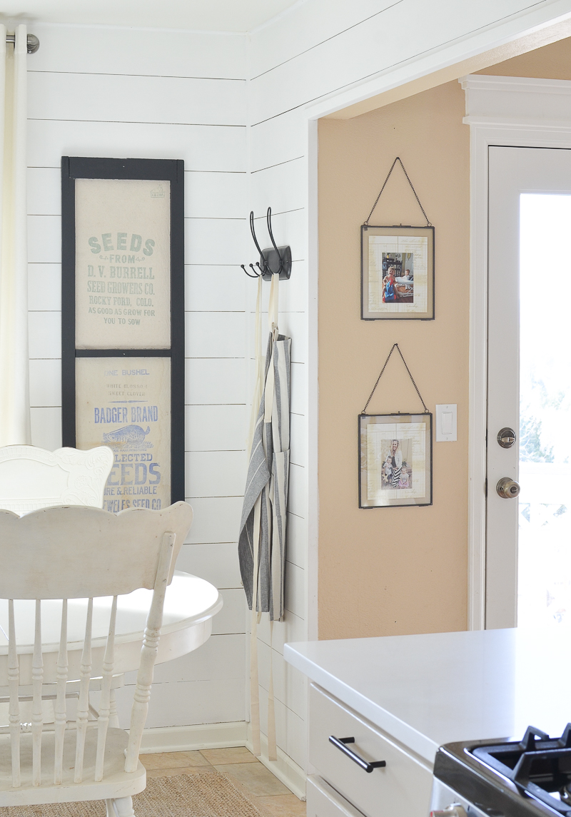 vintage wall frames. Aren t they so darn cute  I kinda want to buy a few more before sell out because love them much m really digging black lately these frames Wall Frames Vintage Chairs More Little Nest