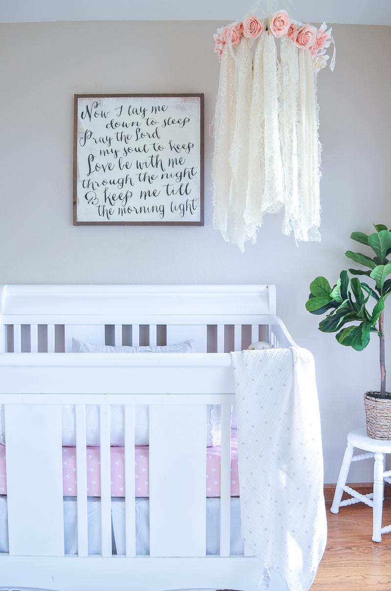 Simple Farmhouse Style Mini-Nursery