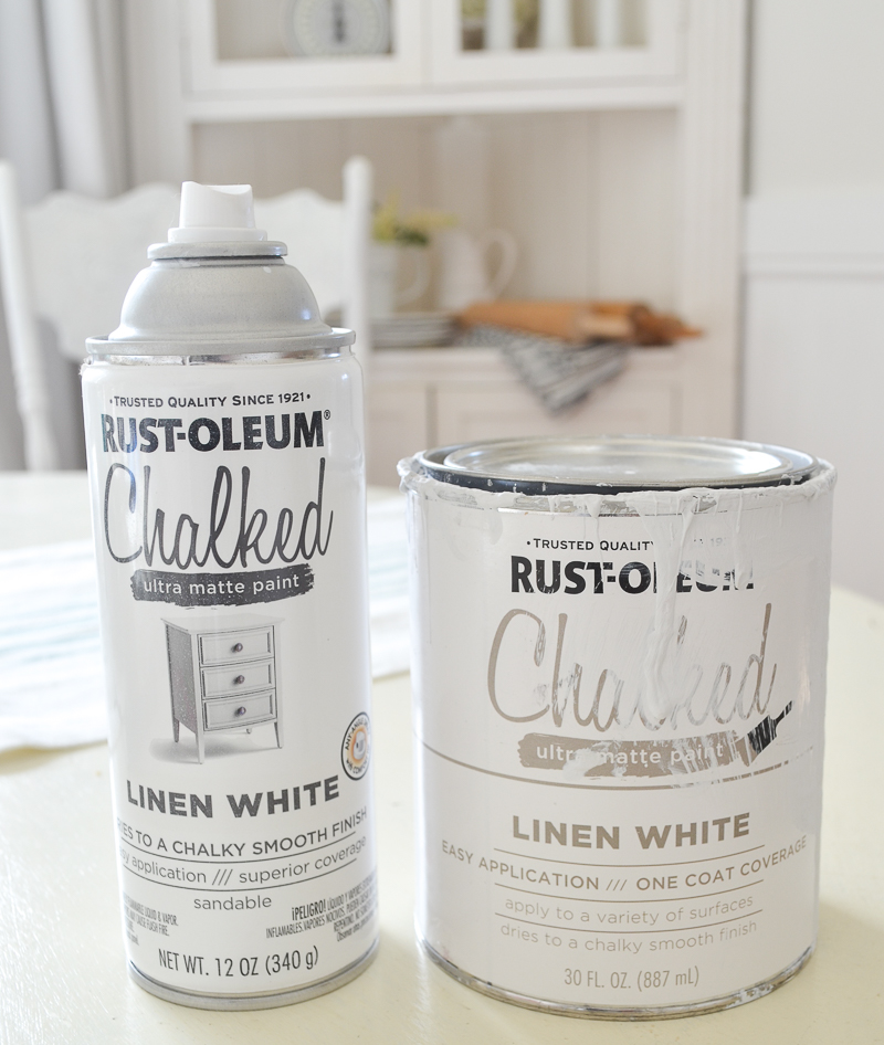 Rustoleum White Linen Chalk Paint