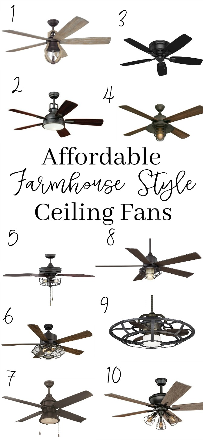 10 AFFORDABLE FARMHOUSE STYLE CEILING FANS